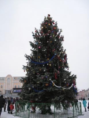 Главная новогодняя елка в Ельце