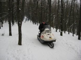 Парк Сорокалетия зимой