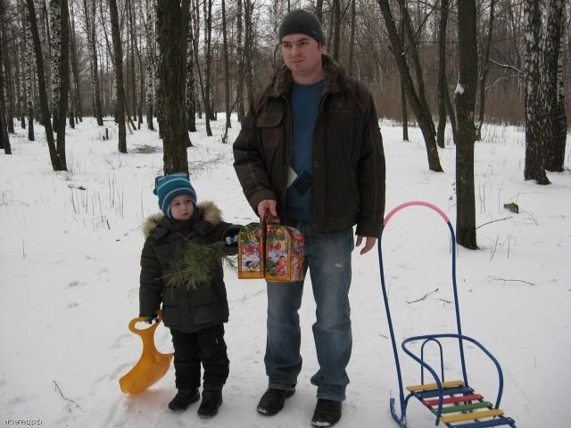 В парке Сорокалетия зимой