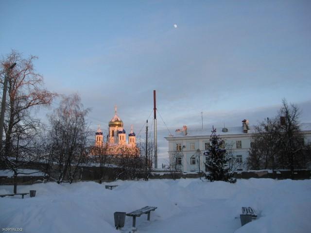 Елец. Вознесенский собор зимой